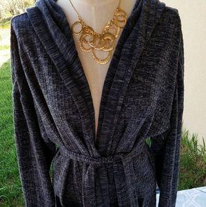 Sweaters - Onque Blue Cardigan Jacket w/ Belt 2X