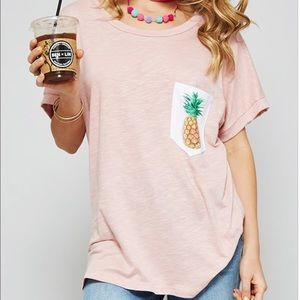 Bea Bella Couture Tops - 🆕Graphic pineapple Tee