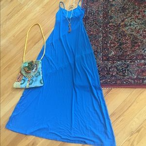 Ann Taylor NWT strappy electric blue stretch maxi