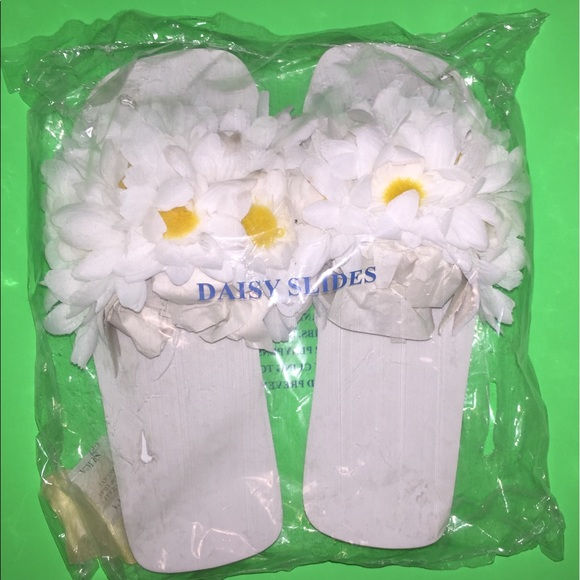 Shoes - Daisy slides size large original package sealed