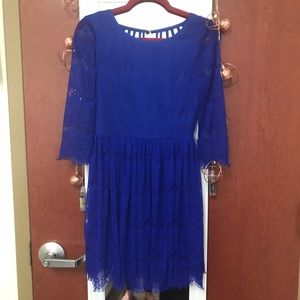 Zara Dresses & Skirts - GB blue lace dress