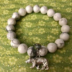 Bracelet with Polar Bear And Gray Crystal Charms