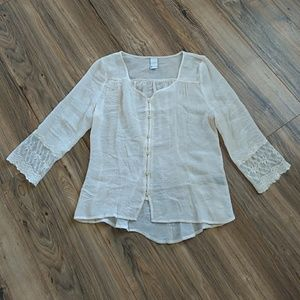 Swell Tops - SWELL sheer 3/4 length top