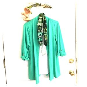 Notations Other - All in one light jacket,scarf,built in necklace !