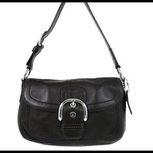 Coach Handbags - Coach Soho Black Leather Buckle Flap Shoulder Bag