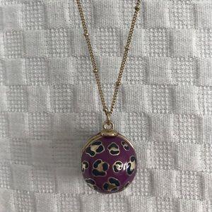 Vera Bradley Jewelry - Vera Bradley Goldtone African Violet Sphere Locket