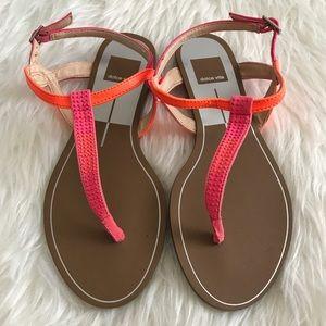 Dolce Vita Shoes - Dolce Vita Neon Pink & Orange Embellished Sandals