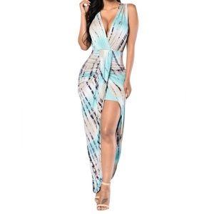 Fashion Nova Dresses & Skirts - High low tie dye maxi dress