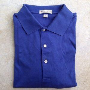 Peter Millar Other - Peter Millar blue cotton 3 button polo shirt