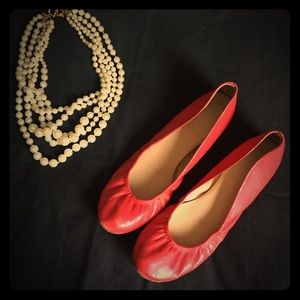 J.Crew Red Size 9 Ceces Flats Shoes Leather