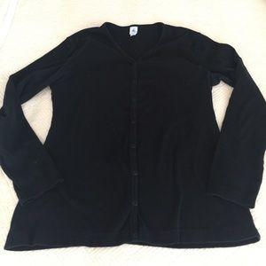 Petit Bateau Sweaters - Cotton snap-front cardigan