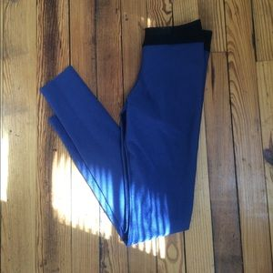Blue Life Pants - irreversible blue life leggings with mesh top
