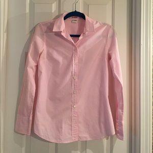 J. Crew Kathryn Slim Fit Pink White XSmall