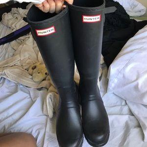 Hunter Boots Shoes - Hunters matte black boots