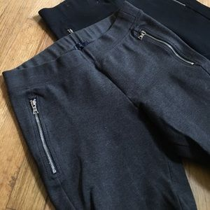 Cozy Grey Gap Sweats Yoga Pants With Zippers