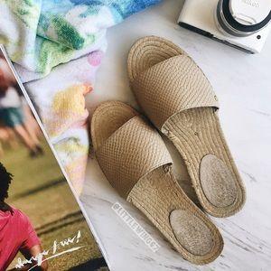 UGG Shoes - UGG leather slide sandals