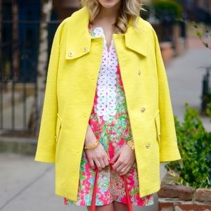 Yellow Textured Coat