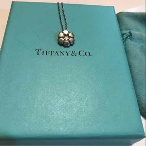 Tiffany & Co silver necklace crown of hearts