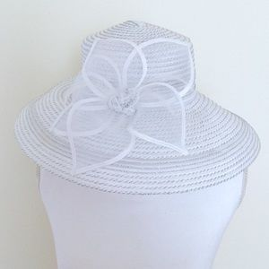 August Hats Accessories - White Derby Hat August Hat Company