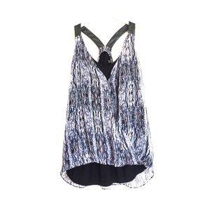 Anthropologie Tops - Ella Moss purple silk draping wrap blouse small