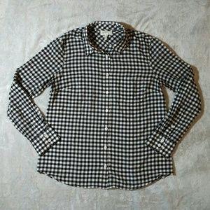 J. Crew Boy fit Gingham Plaid buttondown shirt