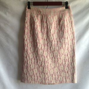 Harold's skirt size 2 gold metallic floral brocade
