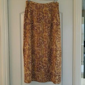 Pretty Fall Color Floral Skirt