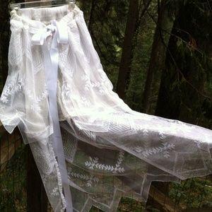 kreativekristen  Dresses & Skirts - ×HP×White tied bathing suit cover up/over skirt