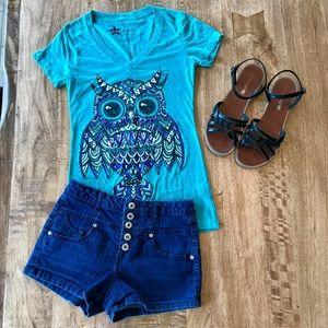 Hybrid Tops - Owl Hybrid Apparel T-Shirt