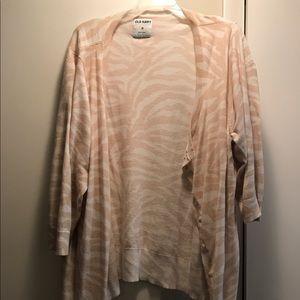 Old Navy Sweaters - Tan & white zebra print cardigan
