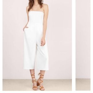 Ivory culotte jumpsuit from Tobi