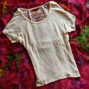 Vanity Tops - Vanity cream knit top size M