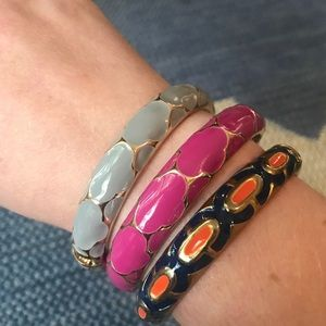 Lilly Pulitzer Jewelry - 3 metal and painted enamel bracelets