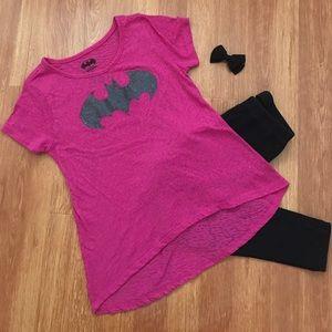 Batman Other - Pink Batman Girls Shirt
