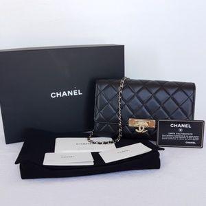 Chanel 2016 Golden Class Lambskin Wallet on Chain
