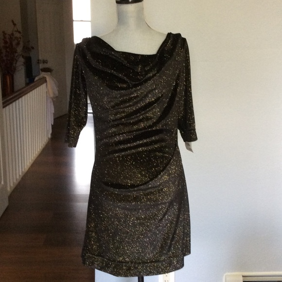 898c7663925 Vivienne Westwood Dresses | New Black Glitter Dress Size M | Poshmark