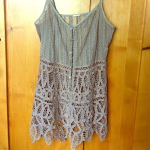 Free people lace boho festival top dusty lavender