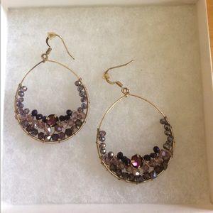 Cake Jewelry - Purple rhinestone earrings