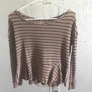 Striped free people thermal