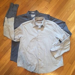 2-pack men's button down shirts.