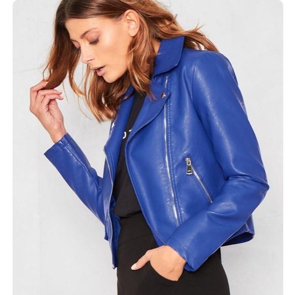 30165af991 Jackets   Blazers - Royal Blue Leather Jacket