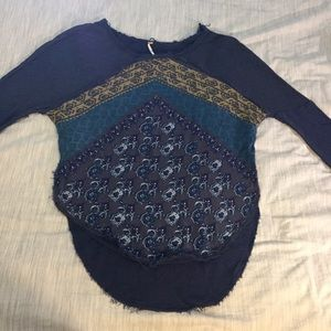 Free People Boho Sweatshirt