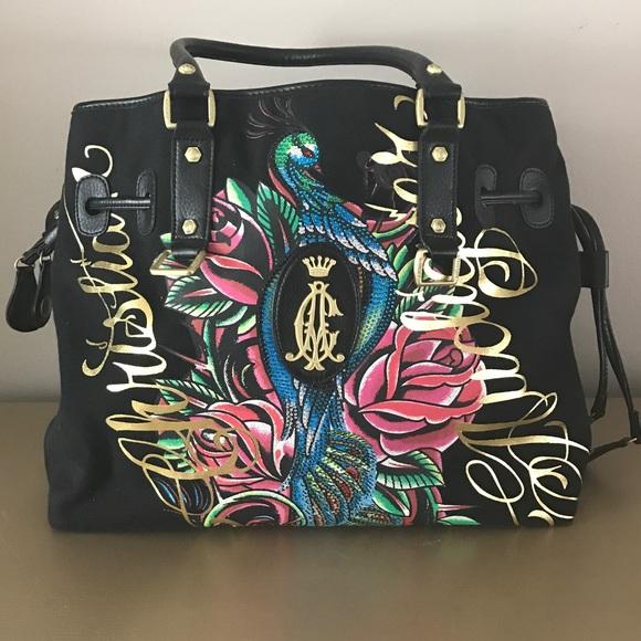 674112e3025 Christian Audigier Bags   Ed Hardy Designer Tote   Poshmark