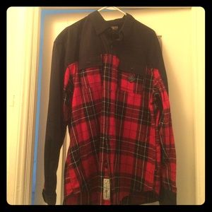 Staple Other - Staple Red/Black Plaid Shirt w/ matching pants