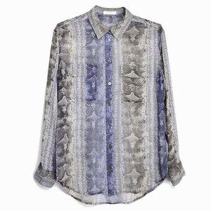 Equipment Tops - Equipment silk button down top blouse animal print
