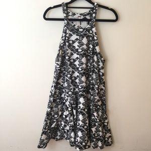 Free People Dresses & Skirts - Free People Black & White Textured Swing Dress