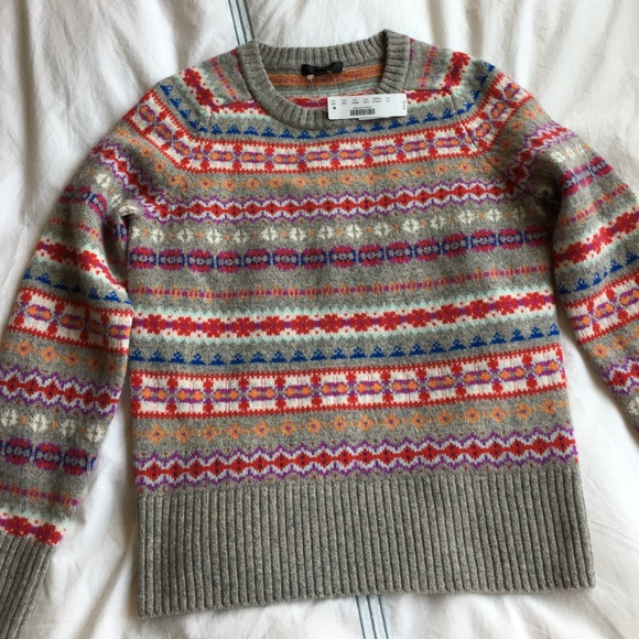 56% off J. Crew Sweaters - J.Crew Holly sweater in fair isle from ...