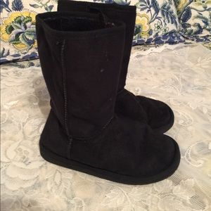 Link Other - Girls Black fur lined boots