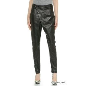 R 13 Pants - R13 X-Over Leather Pants Lambskin Soft Fully Lined
