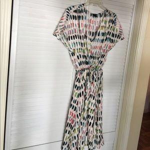 Modern print dress SZ L